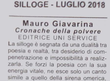 """Cronache della polvere (critica da """"Silloge"""", luglio 2018)"""