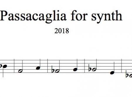 Passacaglia per sintetizzatore